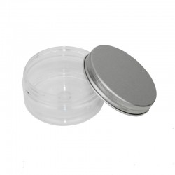 Pot en PET de 75ml - couvercle aluminium