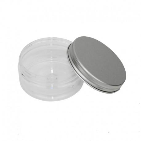 Pot en PET de 75ml - couvercle aluminium