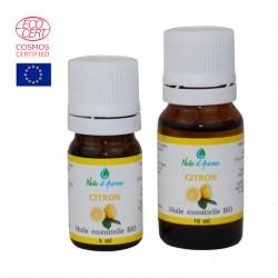 Huile Essentielle de Citron - issue de l'Agriculture Bio Contenance-10 ml