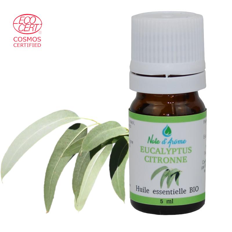 Huile essentielle biologique d'Eucalyptus Citronnée Note d'Arôme