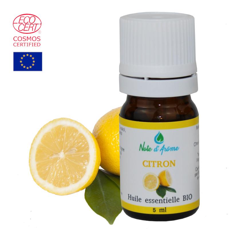 Huile essentielle biologique de zeste de Citron Note d'Arôme