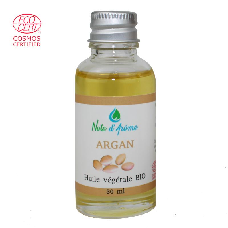 Huile végétale biologique d'Argan Note d'Arôme