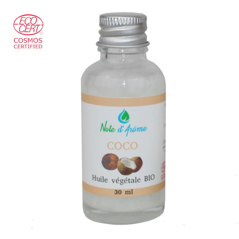 Huile végétale biologique de coco Note d'Arôme